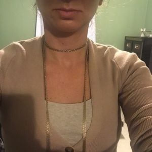 Choker gold necklace (costume)